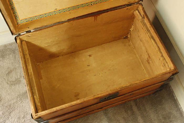 アンティークトランク(木箱)sok9i画像5左側