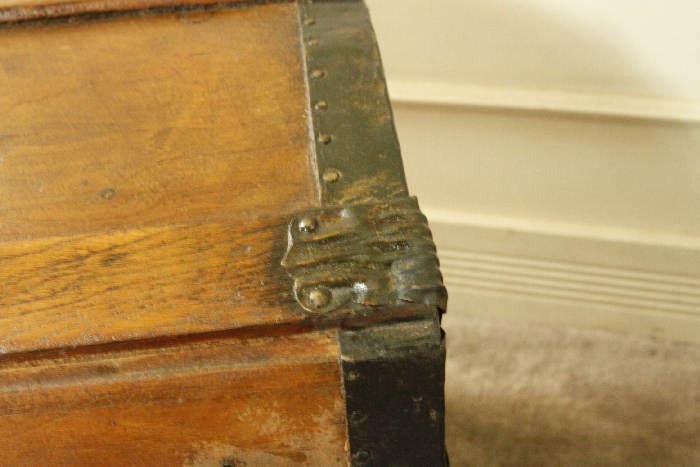 アンティークトランク(木箱)sok9i画像14左側