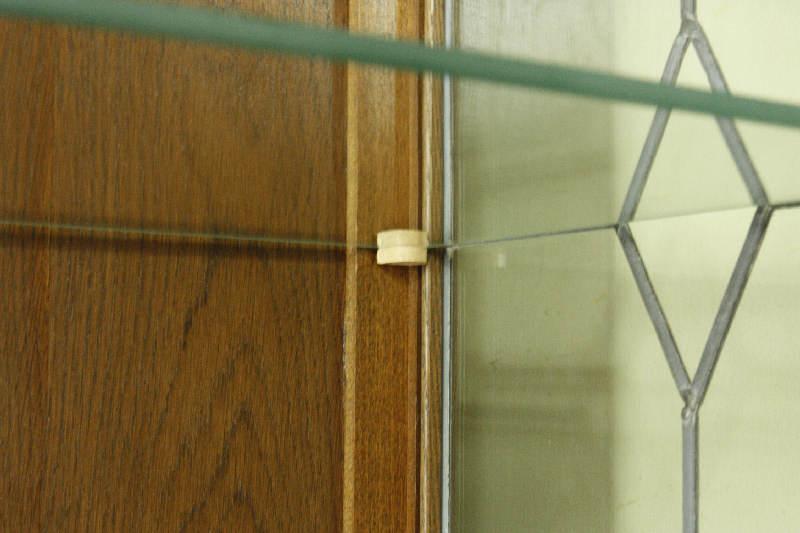 アンティーククリア・ステンドグラス グラスキャビネットcb3i画像5左側