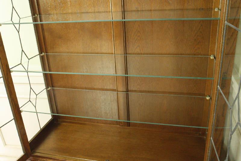 アンティーククリア・ステンドグラス グラスキャビネットcb3i画像8左側