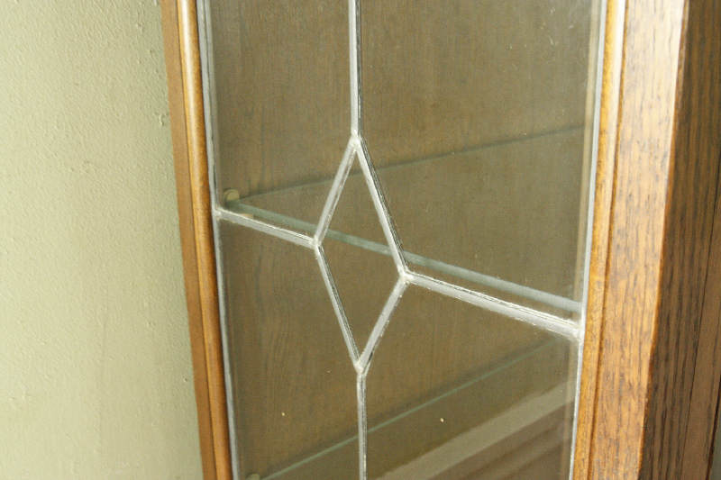 アンティーククリア・ステンドグラス グラスキャビネットcb3i画像21右側